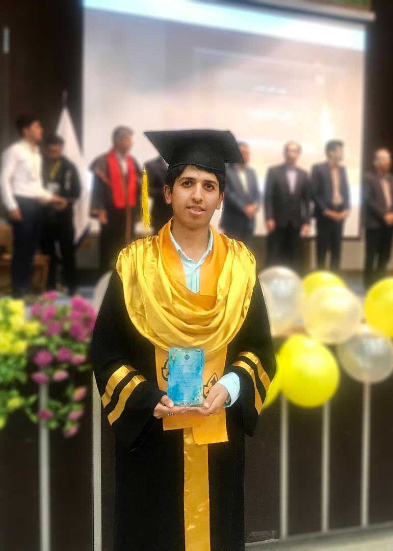 موفقیت دانشجوی مرکزآموزش عالی لامرد درمقطع کارشناسی ارشد بدون آزمون دانشگاه صنعتی شیراز
