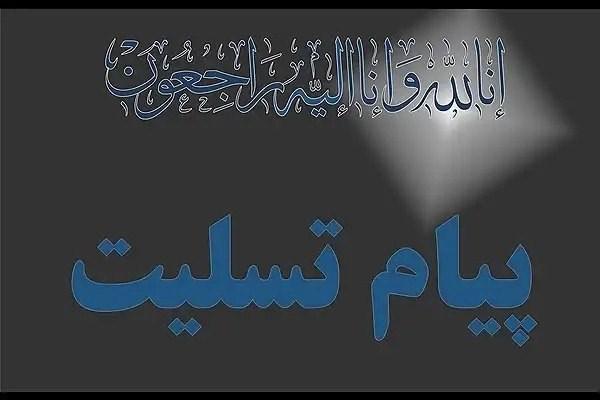 پیام تسلیت رییس مرکزآموزش عالی لامرد