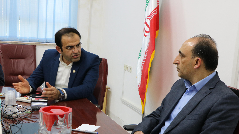 دیدار دکترعلویان مهر رییس دانشگاه صنعتی شیراز با رییس و کارکنان مرکز