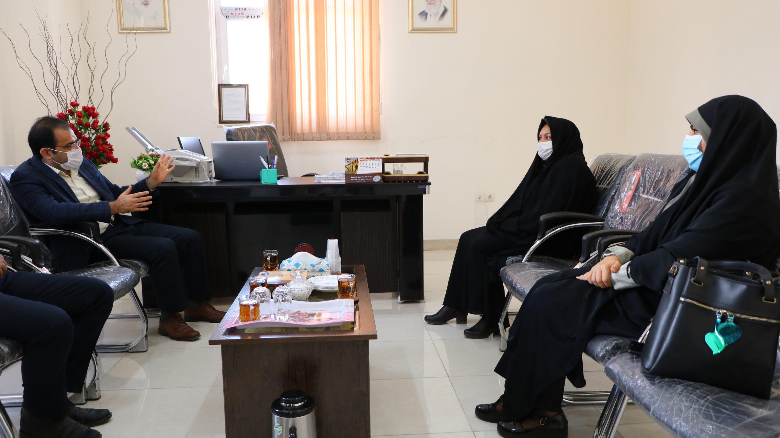 دیدار رییس مرکزآموزش عالی لامرد با سرپرست جدید اداره فرهنگ و ارشاد اسلامی لامرد