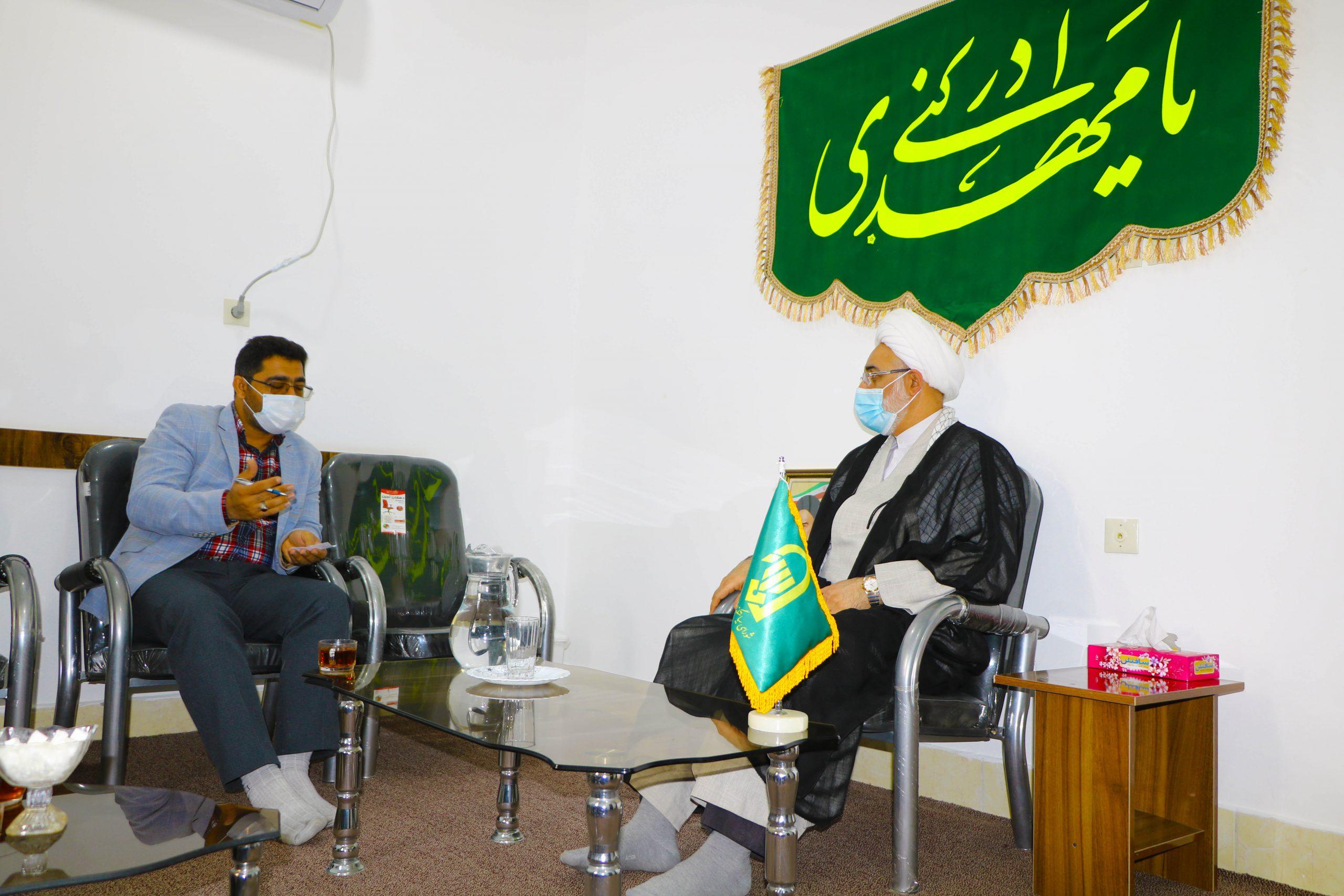 دیدارریاست دانشگاه با امام جمعه محترم شهرستان لامرد