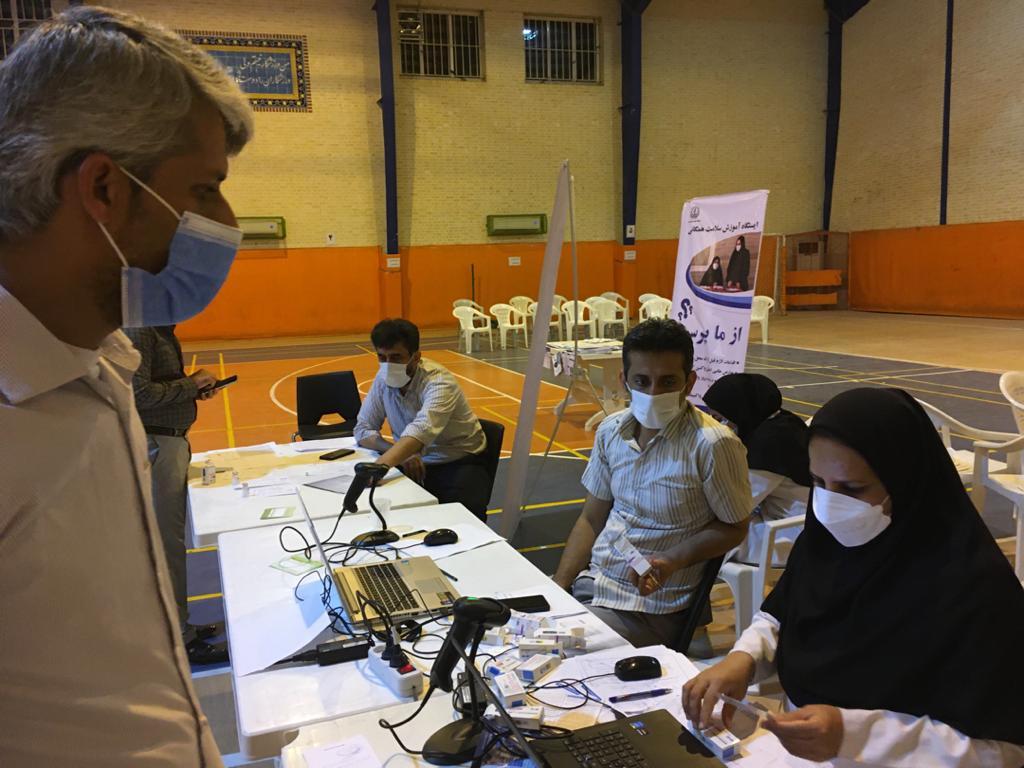 اجرای مرحله ی اول واکسیناسیون اساتید مرکز آموزش عالی لامرد