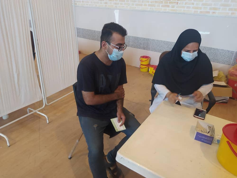 اجرای مرحله ی اول واکسیناسیون دانشجویان مرکز آموزش عالی لامرد